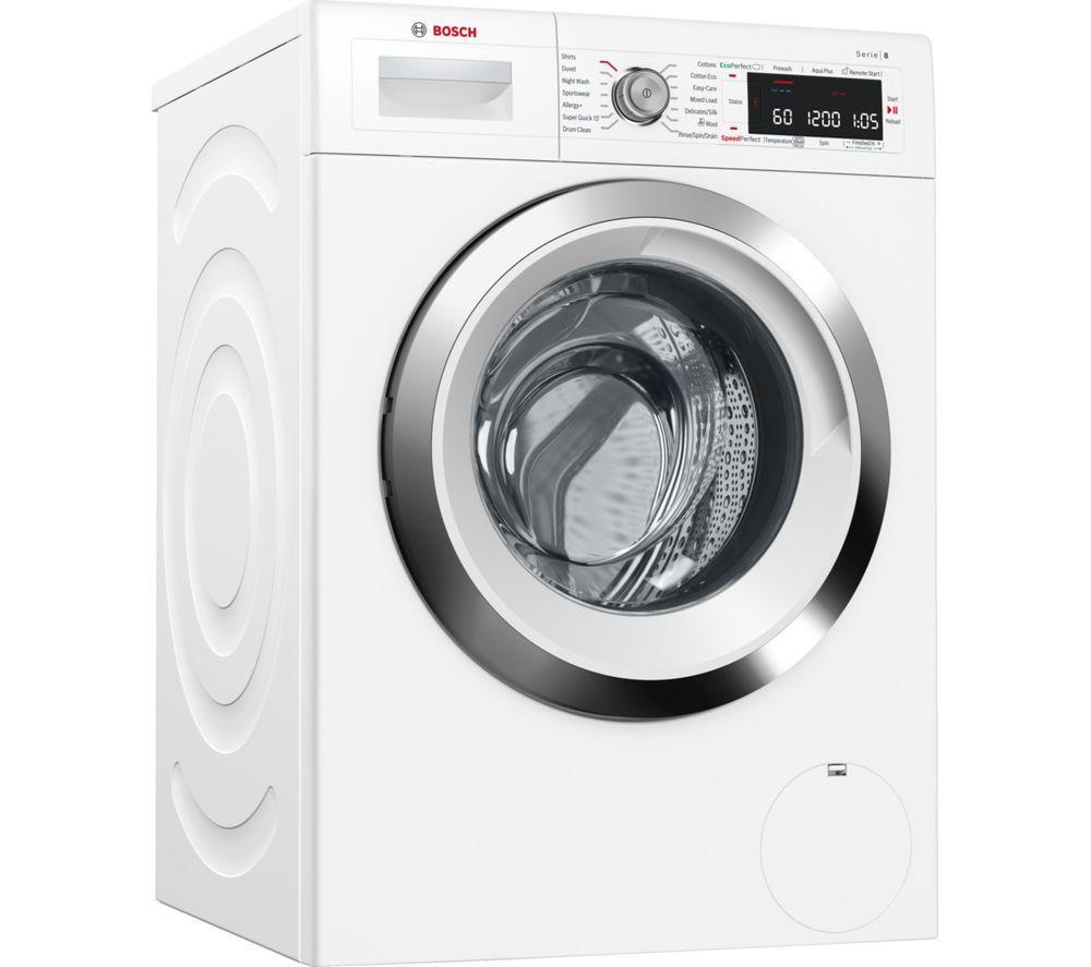 Bosch Serie 8 WAW325H0GB Smart 9 kg 1600 Spin Washing Machine - White, White