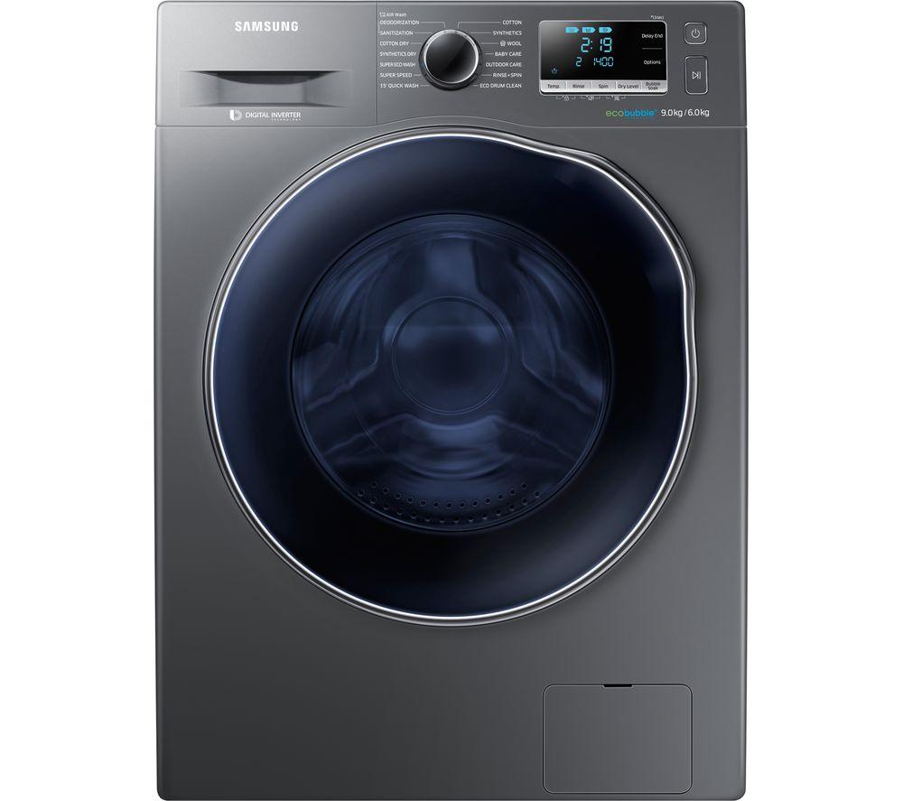 Samsung Washer Dryer ecobubble WD90J6A10AX 8 kg - Graphite, Graphite