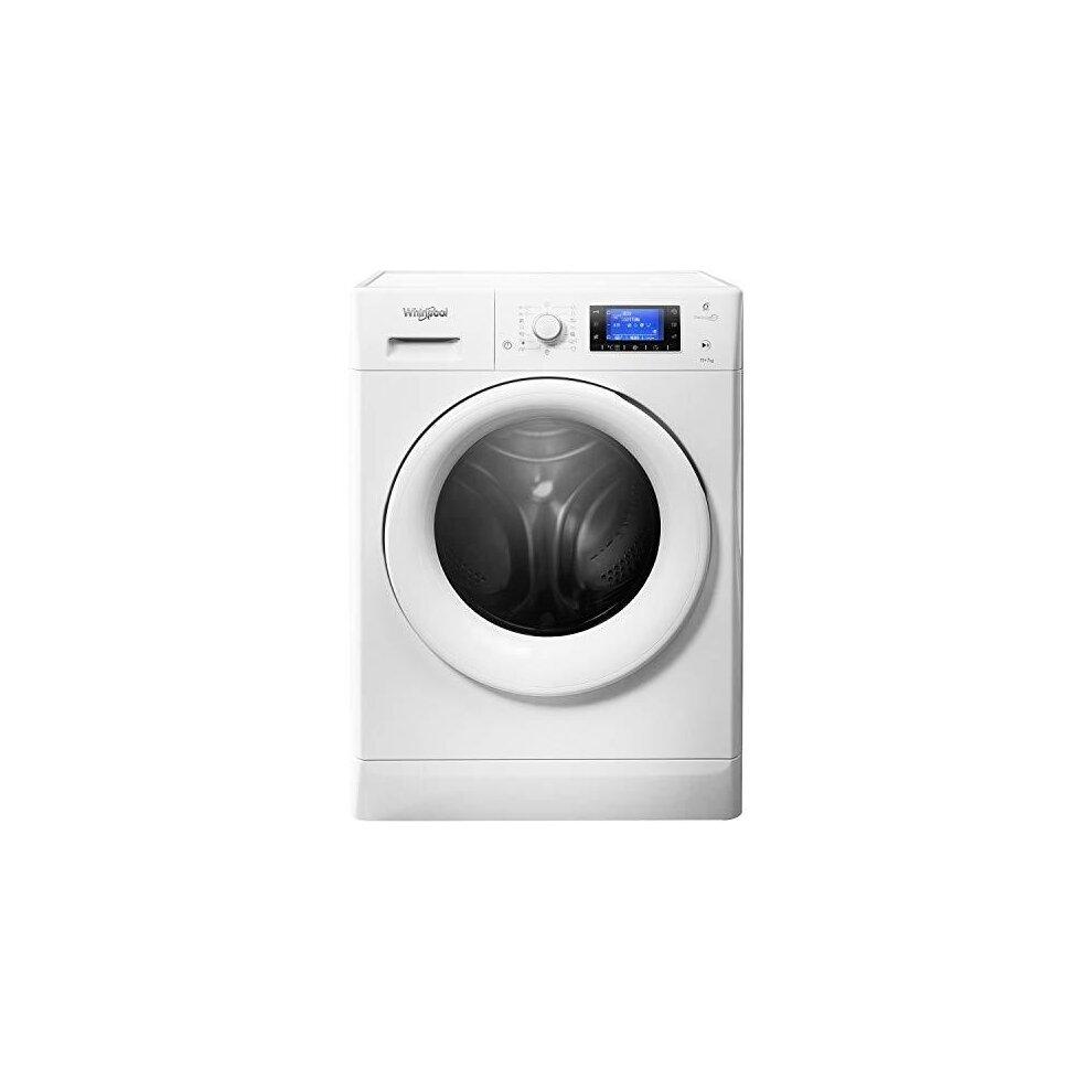 Whirlpool FreshCare FWDD1071681WUK Freestanding Washer Dryer, 10/7kg, 1600rpm, White